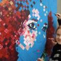 Live schilderen bij IJsbeelden Festival, Kim Egberts & Robbie Boxem
