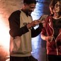 Rapper Rico krijgt 1e cd uitgereikt van Melvin Hersevoort