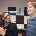 Matthijs Slagter recording grunts on 'Paparazzi' met Henk Mekkring, 2013-05-14 14.48.36