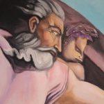 Masterpieces' Prophecies; detail Michelangelo's God